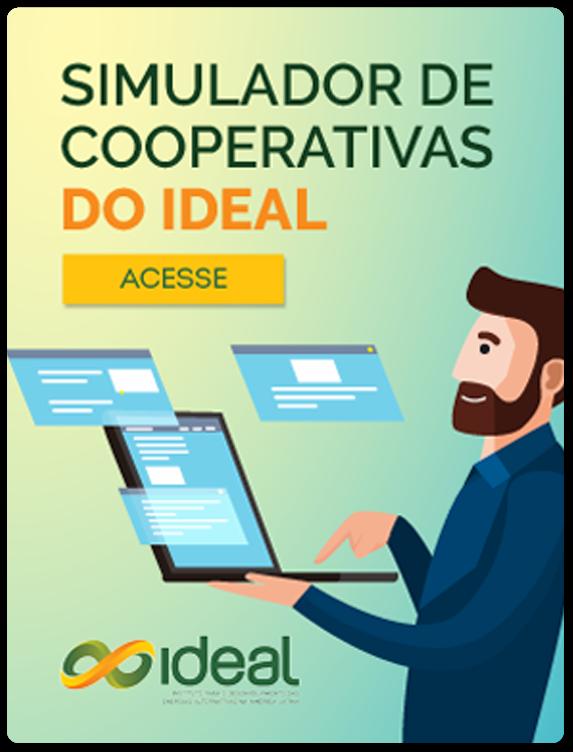 Banner do Simulador de Cooperativas do Ideal com link para acessá-lo